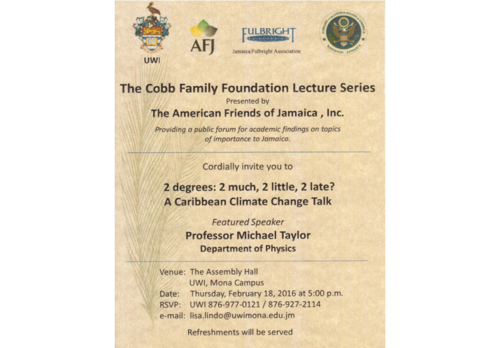 2016 Cobb Family Foundation Lecture Series – UWI