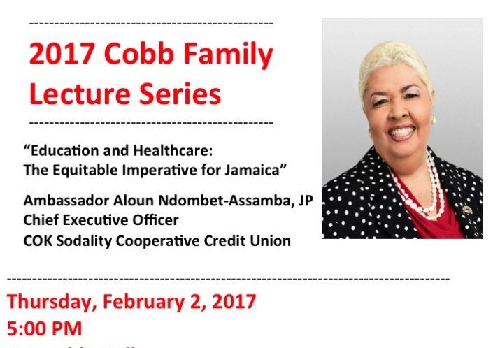2017 Cobb Family Lecture Series at the University of the West Indies