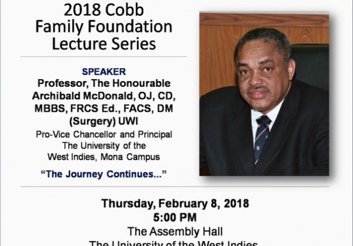 2018 Cobb Family Foundation at the University of the West Indies on February 8