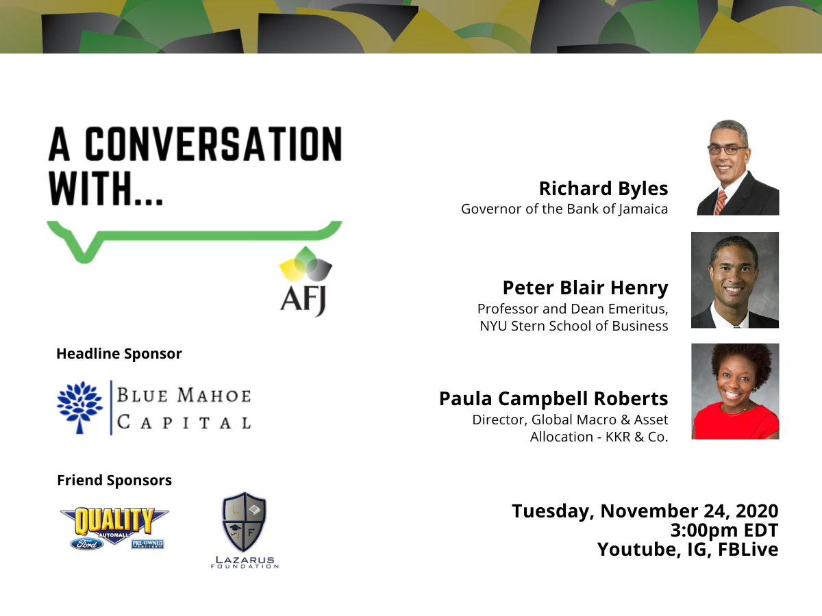 A Conversation With Governor Richard Byles, Professor Peter Blair Henry and Paula Cambell Roberts flyer